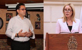 سناتور محافظه کار لیندا فرام و مجید جوهری  نماینده ریچموندهیل در پارلمان کانادا