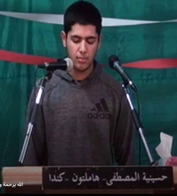 یوسف ال حسناوی  در حال تلاوت قران- (Al-Mustafa Islamic Centre)