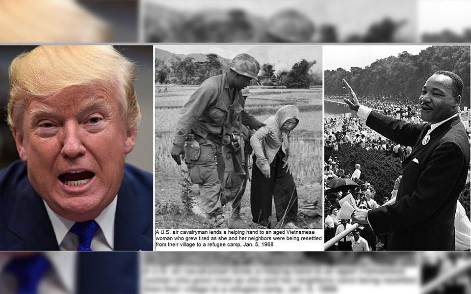 مارتین لوتر کینگ در مخالفت با جنگ ویتنام گفته است: «ملتی که هر سال بیشتر از سال قبل برای دفاع نظامی هزینه می کند  تا برای  برنامه های رفاه اجتماعی، به نقطه مرگ معنوی نزدیک می شود.»