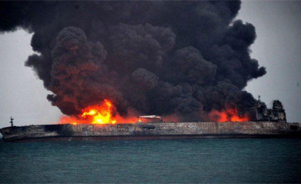 این اولین حادثه به این وسعت برای یک تانکر گاز طبیعی فشرده است.