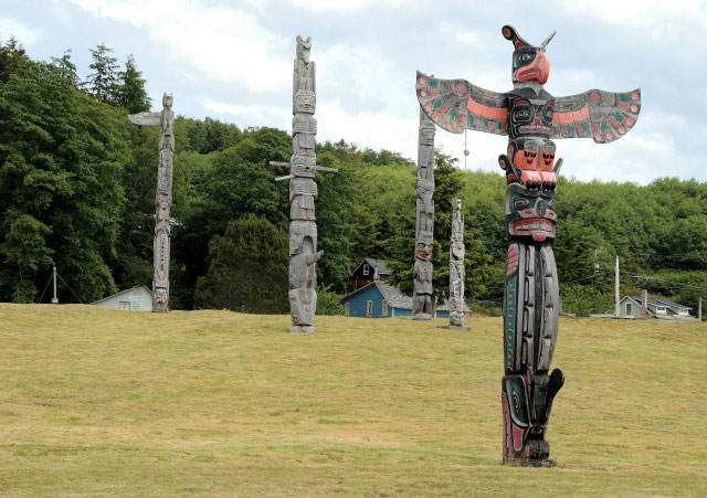 British-Columbia-Alert-Bay-Totem-Poles