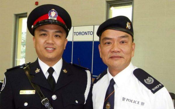(چپ) کانستبل کن لم در کنار پدرش (راست) دیوید لم افسر سابق پلیس هنگ کنگ Courtesy OMNI-TV