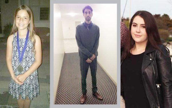 ریس فالون  18 ساله -فیصل حسین29 ساله و جولیانا کوزیس 10 ساله