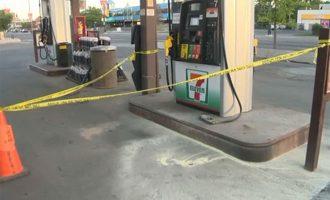 پلیس به دنبال مظنونی که قصد داشت پمپ بنزین را به آتش بکشد