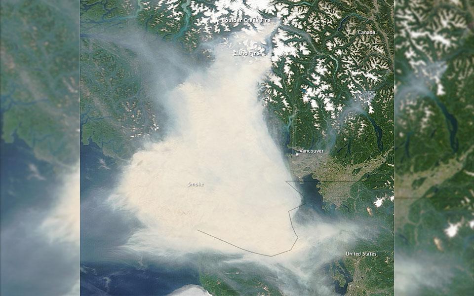 این دومین تابستان متوالی است که دودهای ناشی از آتش سوزی های جنگلی کیفیت هوای بریتیش کلمبیا را تحت تاثیر قرار داده.