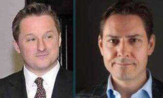 مایکل کووریگ، دیپلمات کانادایی (سمت راست) و مایکل اسپاوور هر دو در چین بازداشت شده اند