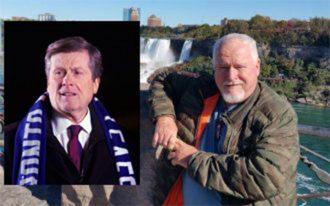 راست: بروس مک آرتور و چپ: جان توری شهردار تورنتو