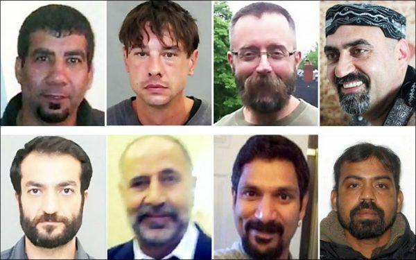 بالا راست: عبدالبصیر فیضی، اندرو کینزمن، دین لیزوریک، سروش محمودی  پایین راست: کیروشنا کاناگاراتنام، اسکندراج ناواراتنام، مجید کیهان،  سلیم اسن
