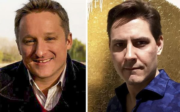 Canadians Michael Spavor (left) and Michael Kovrig have been accused by China of spying. Photo: Facebook