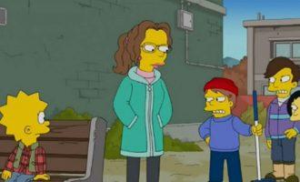 صحنه ای از سریال سیمپسون