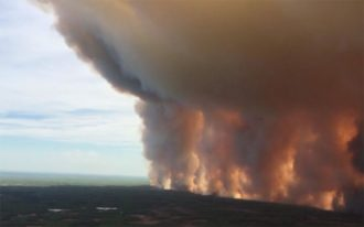 اسکرین شات از صحنه ویدیویی آتش سوزی
