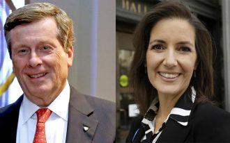 راست: لیبی شف شهردار اوکلند چپ: جان توری شهردار تورنتو