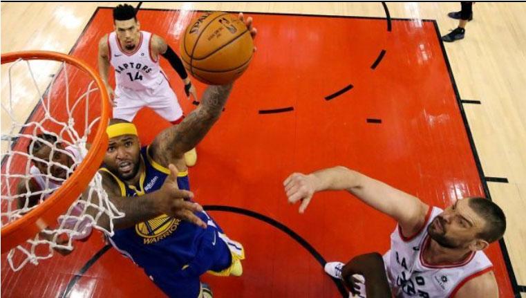 تیم رپترز اگر بازی امشب در مقابل واریورز کالیفرنیا را ببرد، برنده جام قهرمانی NBA خواهد شد.