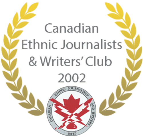 Canadian Ethnic Journalists' & Writers' Club Award